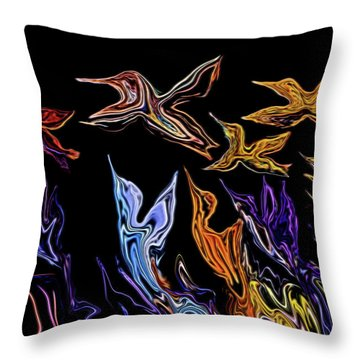 Abstract Hummers Throw Pillow