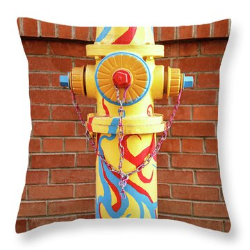 Throw Pillow featuring the photograph Abstract Hydrant by James Eddy