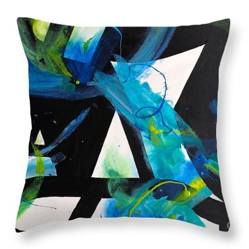 Study In Blue I Throw Pillow