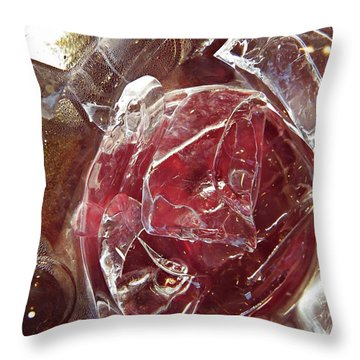 Abstract Ice 44 Throw Pillow by Sarah Loft