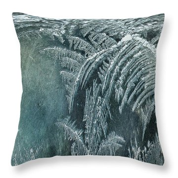 Throw Pillow featuring the digital art Abstract Ice Crystals by Robert G Kernodle