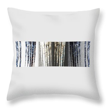 Throw Pillow featuring the digital art Abstract Icicles by Will Borden