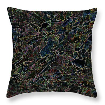 Throw Pillow featuring the photograph Abstract II by Lewis Mann
