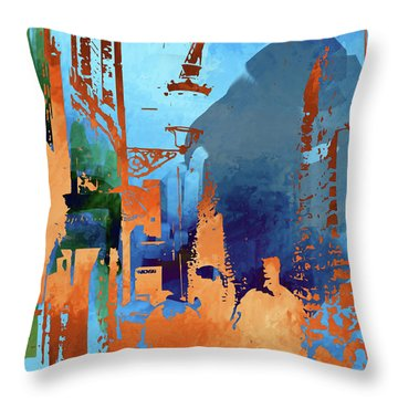 Abstract  Images Of Urban Landscape Series #1 Throw Pillow
