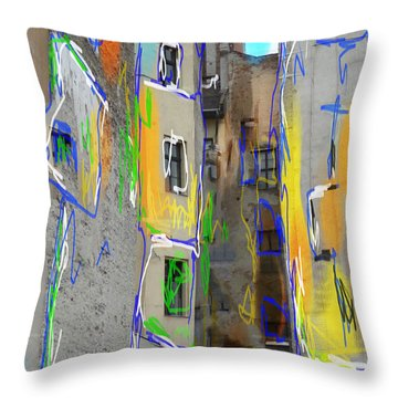 Abstract  Images Of Urban Landscape Series #13 Throw Pillow