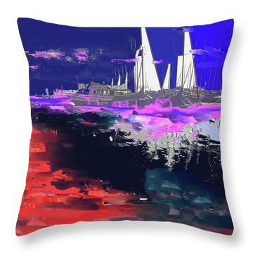 Abstract  Images Of Urban Landscape Series #14 Throw Pillow