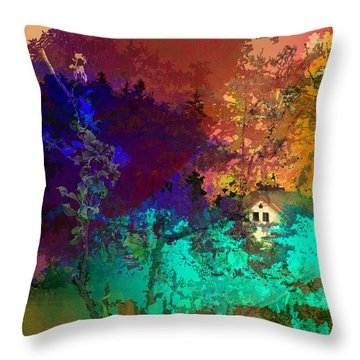 Abstract  Images Of Urban Landscape Series #4 Throw Pillow