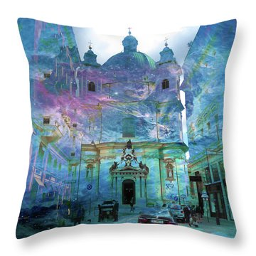 Abstract  Images Of Urban Landscape Series #9 Throw Pillow