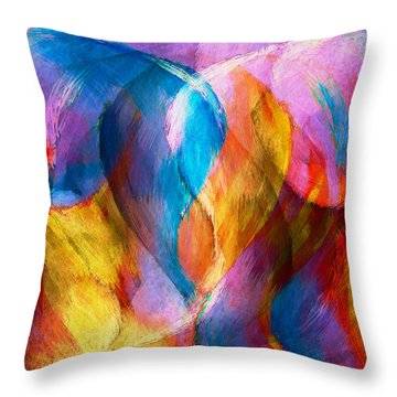 Abstract In Aqua Throw Pillow