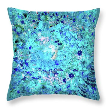 Abstract In Blue No. 56-2 Throw Pillow