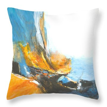 Abstract In Motion Throw Pillow by Glory Wood
