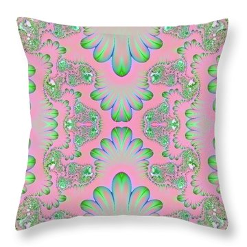 Throw Pillow featuring the digital art Abstract In Pastels by Linda Phelps