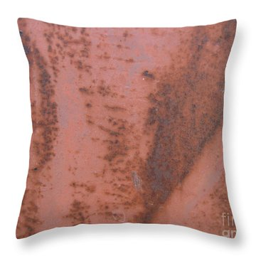 Abstract In Rust Throw Pillow by Karen Sydney