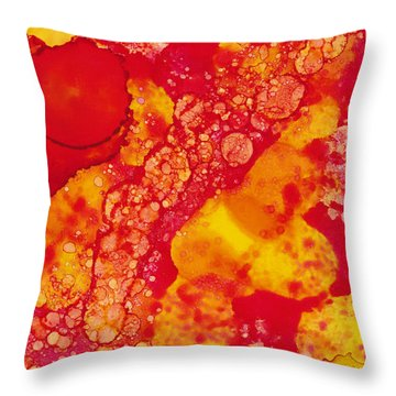 Throw Pillow featuring the painting Abstract Intensity by Nikki Marie Smith
