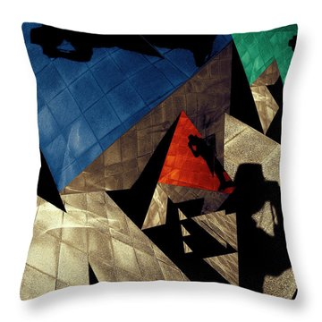 Throw Pillow featuring the photograph Abstract Iterations by Wayne Sherriff