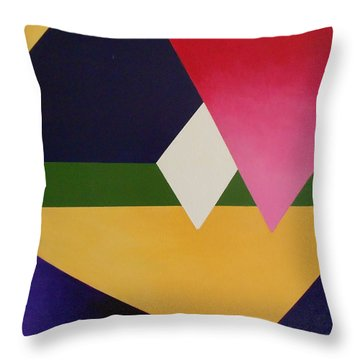 Throw Pillow featuring the painting Abstract by Jamie Frier