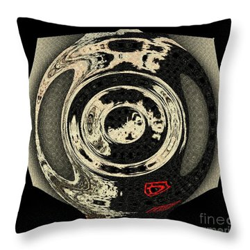 Abstract Japanese Vase Black Throw Pillow