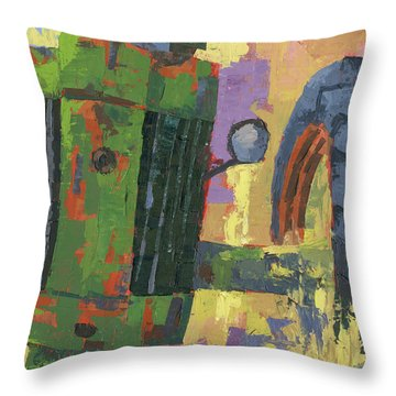 Abstract Johnny Throw Pillow