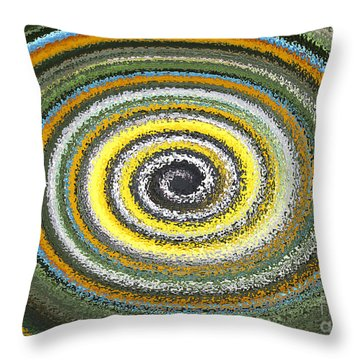 Swirl Abstract 1 Throw Pillow