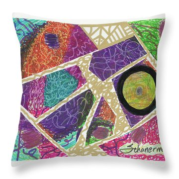 Puzzle Jungle Throw Pillow