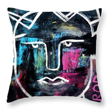 Abstract King - Original Robert Erod Art Throw Pillow