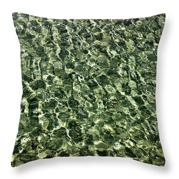 Throw Pillow featuring the photograph Abstract Lake Reflections by LeeAnn McLaneGoetz McLaneGoetzStudioLLCcom