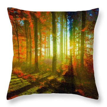 Abstract Landscape 0745 Throw Pillow