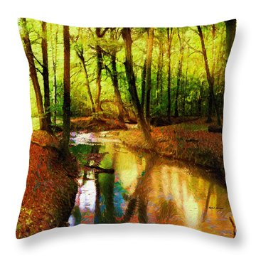 Abstract Landscape 0747 Throw Pillow