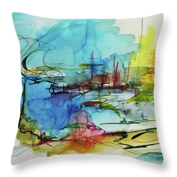 Abstract Landscape #1 Throw Pillow