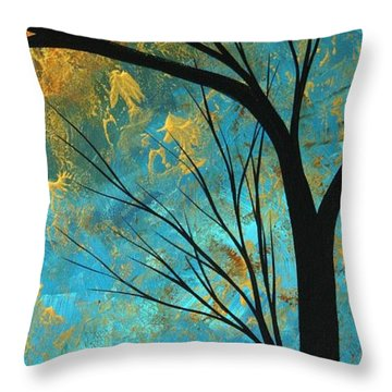 Abstract Landscape Art Passing Beauty 3 Of 5 Throw Pillow by Megan Duncanson