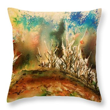 Abstract Landscape Throw Pillow by Betty-Anne McDonald
