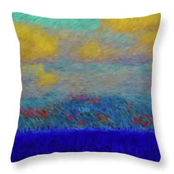 Abstract Landscape Expressions Throw Pillow