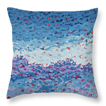 Abstract Landscape Painting 1 Throw Pillow