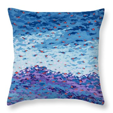 Abstract Landscape Painting 2 Throw Pillow