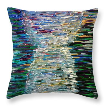 Abstract Latte Stone Throw Pillow