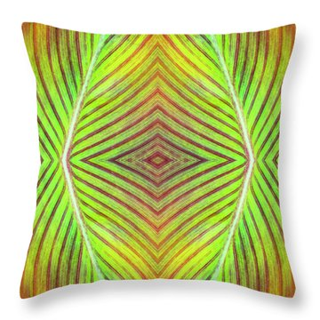 Abstract Leaf Pattern Throw Pillow