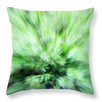 Throw Pillow featuring the photograph Abstract Leaves 7 by Rebecca Cozart