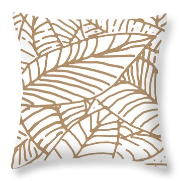 Abstract Leaves Iced Coffee Throw Pillow