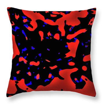 Abstract Lemon Tree Leaves Throw Pillow by Gina O'Brien