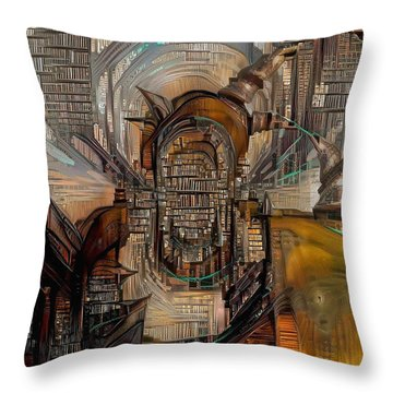Abstract Liberty Throw Pillow