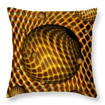 Throw Pillow featuring the digital art Abstract - Life Grid by Glenn McCarthy Art and Photography