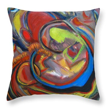 Abstract Life Throw Pillow