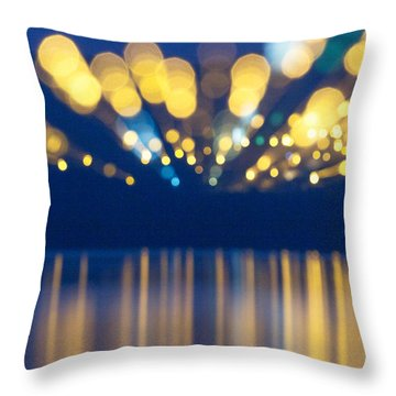 Abstract Light Texture With Mirroring Effect Throw Pillow