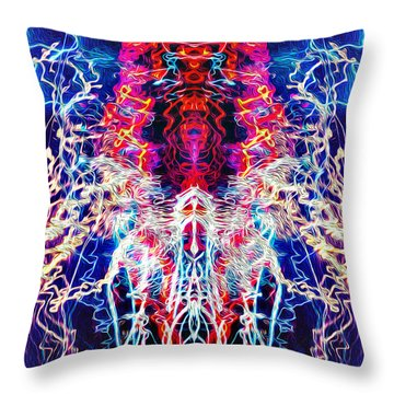 Abstract Lightpainting Oil Style Unique Poster Image Throw Pillow