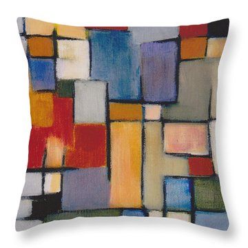 Abstract Line Series  Throw Pillow by Patricia Cleasby