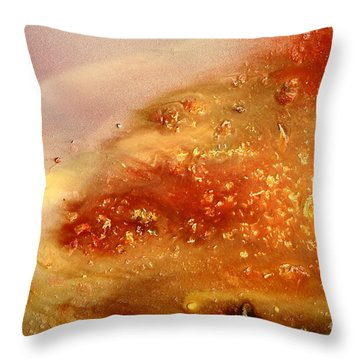 Abstract Liquid Art Fluid Red Painting Science Of Dust Throw Pillow