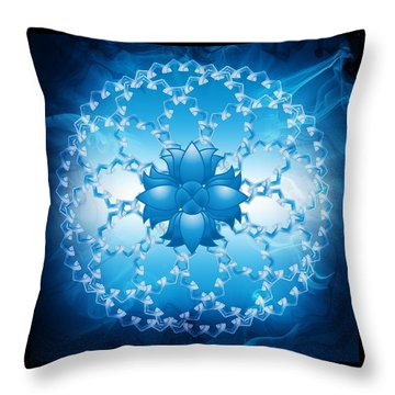 Abstract Lotus Flower Symbol Throw Pillow