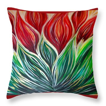 Abstract Lotus Throw Pillow