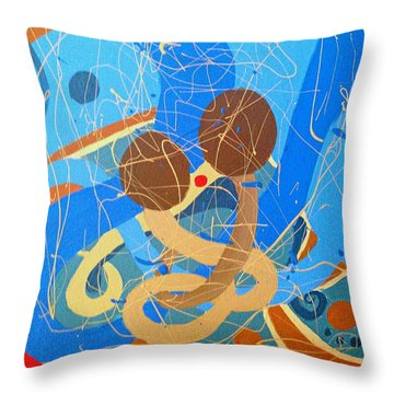 Abstract Love 2 - Painting Throw Pillow