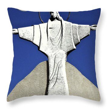 Abstract Lutheran Cross 5 Throw Pillow by Bruce Iorio